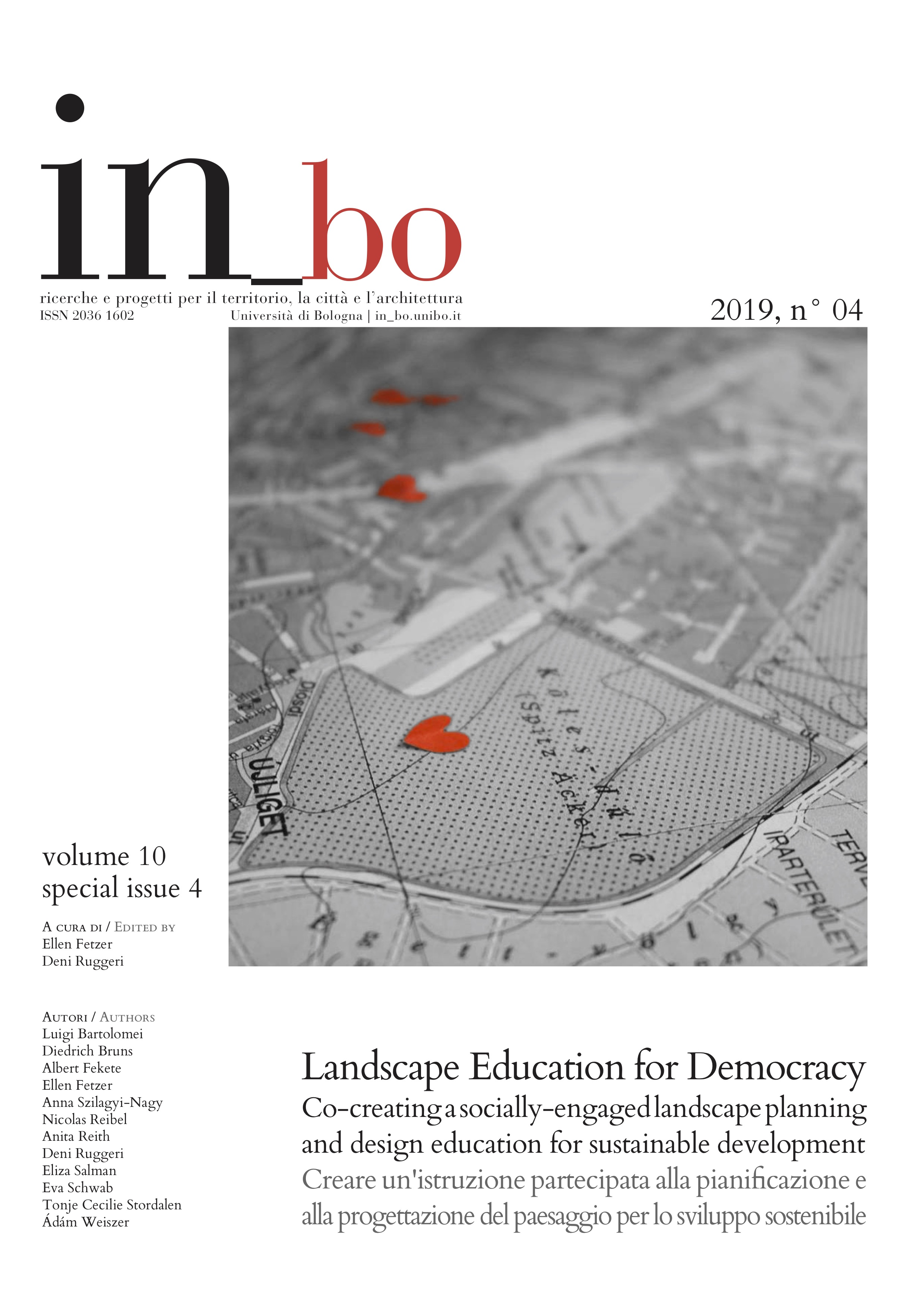 Visualizza V. 10 N. 4 (2019): Landscape Education for Democracy